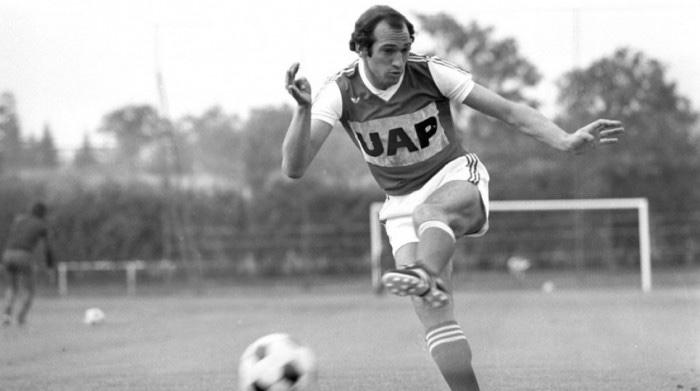 Carlos Bianchi como futbolista en el Stade de Reims